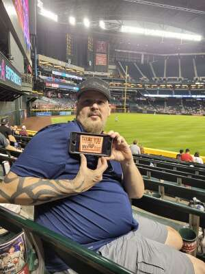 Carl  attended Arizona Diamondbacks vs. San Diego Padres - MLB on Aug 30th 2021 via VetTix