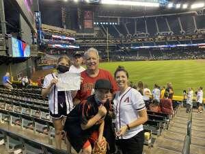 RLK attended Arizona Diamondbacks vs. San Diego Padres - MLB on Aug 30th 2021 via VetTix