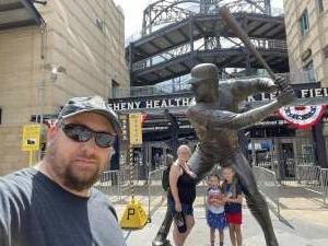 Michael Roberts attended Pittsburgh Pirates vs. Milwaukee Brewers - MLB on Jul 4th 2021 via VetTix