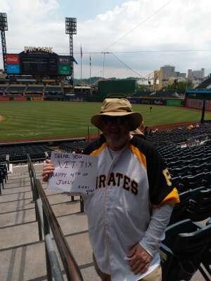 Frank USAF 77-81 attended Pittsburgh Pirates vs. Milwaukee Brewers - MLB on Jul 4th 2021 via VetTix