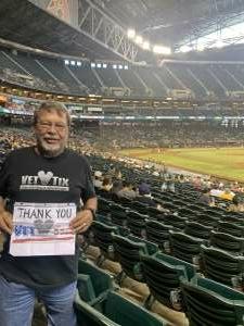 Matt NIesz attended Arizona Diamondbacks vs. San Diego Padres - MLB on Sep 1st 2021 via VetTix