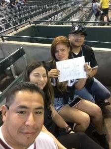 Rudy attended Arizona Diamondbacks vs. San Diego Padres - MLB on Sep 1st 2021 via VetTix