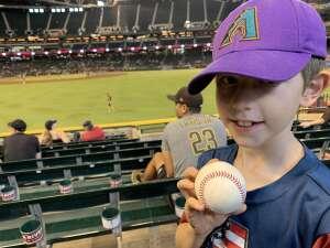 Russ attended Arizona Diamondbacks vs. San Diego Padres - MLB on Sep 1st 2021 via VetTix