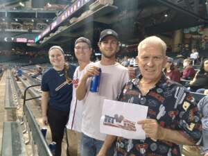 Richard attended Arizona Diamondbacks vs. Atlanta Braves - MLB on Sep 20th 2021 via VetTix