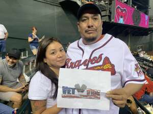 Brandon attended Arizona Diamondbacks vs. Atlanta Braves - MLB on Sep 20th 2021 via VetTix