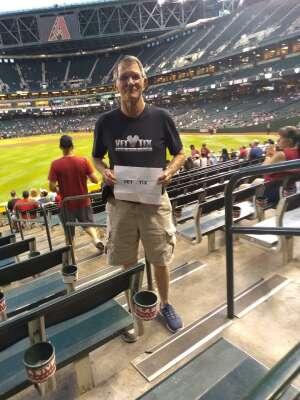 Howard M. attended Arizona Diamondbacks vs. Atlanta Braves - MLB on Sep 20th 2021 via VetTix