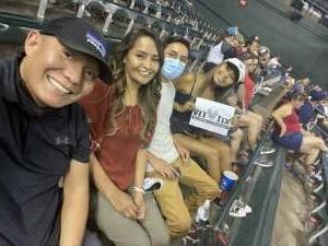 Uriah attended Arizona Diamondbacks vs. Atlanta Braves - MLB on Sep 20th 2021 via VetTix