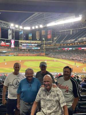 Jerry  attended Arizona Diamondbacks vs. Atlanta Braves - MLB on Sep 20th 2021 via VetTix