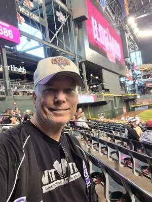 J. LANE attended Arizona Diamondbacks vs. Atlanta Braves - MLB on Sep 23rd 2021 via VetTix