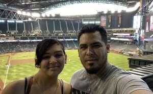 Alicia Heraldez attended Arizona Diamondbacks vs. Atlanta Braves - MLB on Sep 23rd 2021 via VetTix
