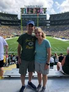 Army Vet attended Green Bay Packers vs. New York Jets - NFL Preseason on Aug 21st 2021 via VetTix