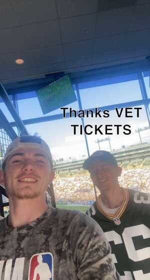 Kevin attended Green Bay Packers vs. New York Jets - NFL Preseason on Aug 21st 2021 via VetTix