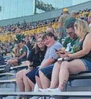 CJ Breska attended Green Bay Packers vs. New York Jets - NFL Preseason on Aug 21st 2021 via VetTix