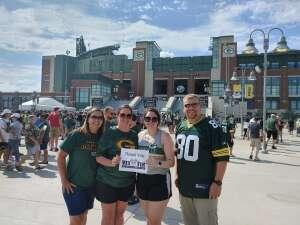 Beth attended Green Bay Packers vs. New York Jets - NFL Preseason on Aug 21st 2021 via VetTix