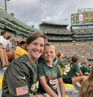 Danielle attended Green Bay Packers vs. New York Jets - NFL Preseason on Aug 21st 2021 via VetTix