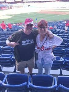SGM (Ret) Houston attended Philadelphia Phillies vs. Miami Marlins - MLB on Jun 30th 2021 via VetTix