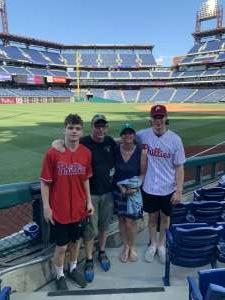 Roy attended Philadelphia Phillies vs. Miami Marlins - MLB on Jun 30th 2021 via VetTix