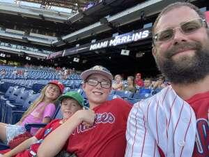 Harold Eckman attended Philadelphia Phillies vs. Miami Marlins - MLB on Jun 30th 2021 via VetTix