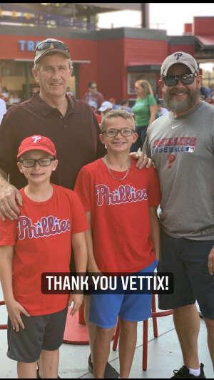 Art attended Philadelphia Phillies vs. Washington Nationals - MLB on Jul 26th 2021 via VetTix