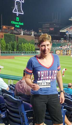 Jo attended Philadelphia Phillies vs. Washington Nationals - MLB on Jul 26th 2021 via VetTix