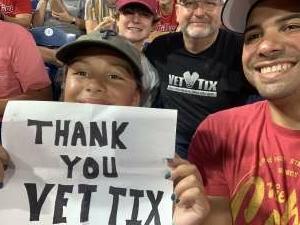 Carlos Santiago attended Philadelphia Phillies vs. Washington Nationals - MLB on Jul 26th 2021 via VetTix