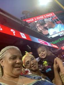 Keshia Hill attended Philadelphia Phillies vs. Washington Nationals - MLB on Jul 26th 2021 via VetTix