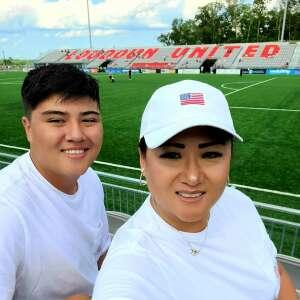 Soccer Fans attended Loudoun United FC vs. Hartford Athletic - USL on Jul 4th 2021 via VetTix