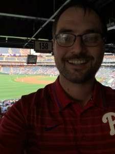 Ken attended Philadelphia Phillies vs. Washington Nationals - MLB on Jul 27th 2021 via VetTix
