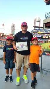 Megan A. attended Philadelphia Phillies vs. Washington Nationals - MLB on Jul 27th 2021 via VetTix