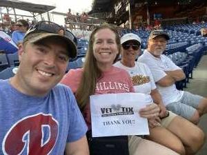 Brian attended Philadelphia Phillies vs. Washington Nationals - MLB on Jul 27th 2021 via VetTix