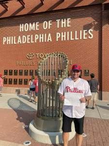 Jason Gozikowski attended Philadelphia Phillies vs. Washington Nationals - MLB on Jul 27th 2021 via VetTix