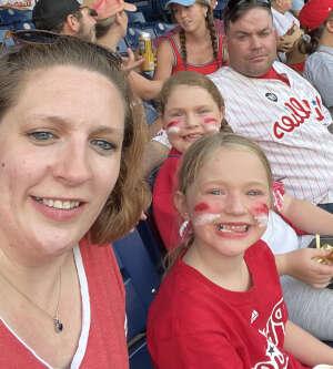 Ashleigh Simmons attended Philadelphia Phillies vs. Washington Nationals - MLB on Jul 27th 2021 via VetTix