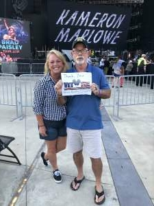 Tim attended Brad Paisley Tour 2021 on Jul 22nd 2021 via VetTix