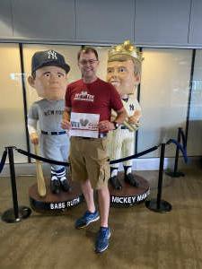 Gregory  attended New York Yankees vs. New York Mets - MLB on Jul 3rd 2021 via VetTix