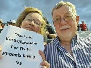Ron attended Phoenix Rising vs. LA Galaxy on Jul 3rd 2021 via VetTix