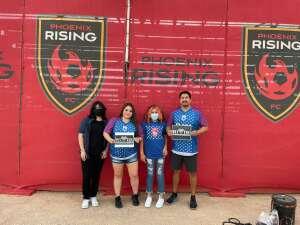 Ron Valdez attended Phoenix Rising vs. LA Galaxy on Jul 3rd 2021 via VetTix