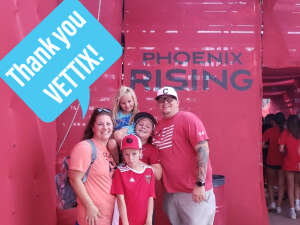 Chase Stewart attended Phoenix Rising vs. LA Galaxy on Jul 3rd 2021 via VetTix