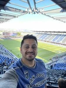 Fernando attended San Jose Earthquakes vs. LA Galaxy - MLS on Jun 26th 2021 via VetTix