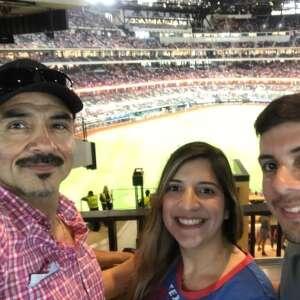 Lopez  attended Texas Rangers vs. Oakland Athletics - MLB on Jul 9th 2021 via VetTix