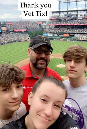Arik Granzin attended Colorado Rockies vs. Pittsburgh Pirates on Jun 28th 2021 via VetTix
