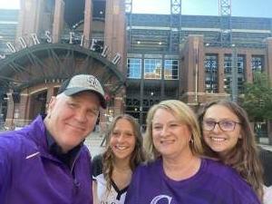 Randy attended Colorado Rockies vs. Pittsburgh Pirates on Jun 28th 2021 via VetTix