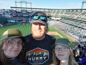 Jacob attended Colorado Rockies vs. Pittsburgh Pirates on Jun 28th 2021 via VetTix