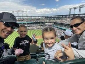 Abe  attended Colorado Rockies vs. Pittsburgh Pirates on Jun 28th 2021 via VetTix