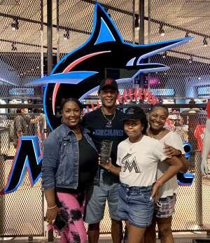 Edwards family  attended Miami Marlins vs. Los Angeles Dodgers - MLB on Jul 5th 2021 via VetTix