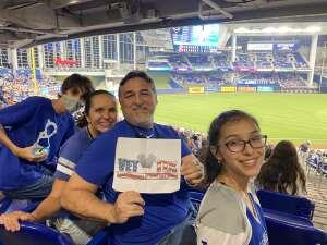 Oscar U attended Miami Marlins vs. Los Angeles Dodgers - MLB on Jul 5th 2021 via VetTix