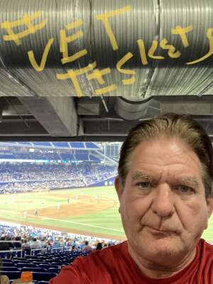 Michael  attended Miami Marlins vs. Los Angeles Dodgers - MLB on Jul 5th 2021 via VetTix