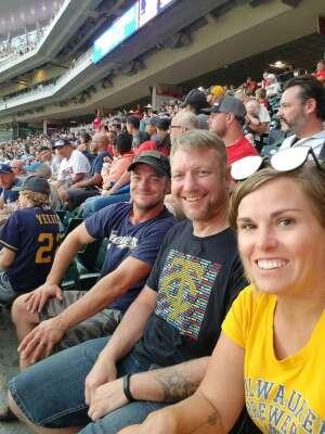 Dom attended Minnesota Twins vs. Milwaukee Brewers - MLB on Aug 28th 2021 via VetTix