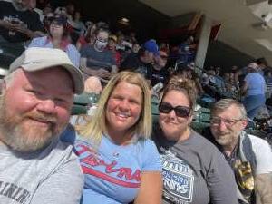 RENEE attended Minnesota Twins vs. Milwaukee Brewers - MLB on Aug 29th 2021 via VetTix