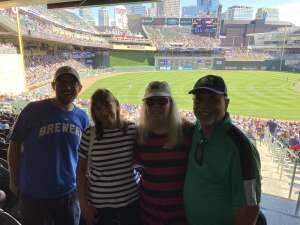 Michael and Susan attended Minnesota Twins vs. Milwaukee Brewers - MLB on Aug 29th 2021 via VetTix