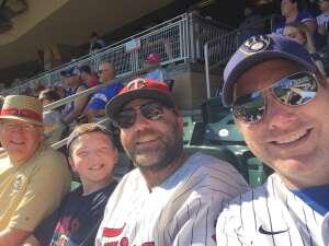 Francis Brown attended Minnesota Twins vs. Milwaukee Brewers - MLB on Aug 29th 2021 via VetTix
